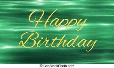 happy birthday text - yellow happy birthday text and green ...