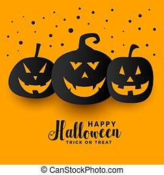 yellow happy halloween festival holiday pumpkin background
