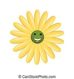 Yellow Happy Smiley Flower