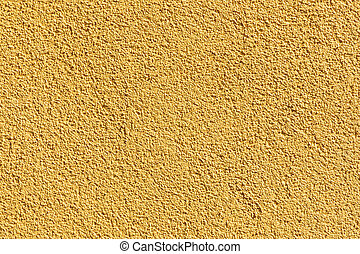 yellow harmonic house wall in detail