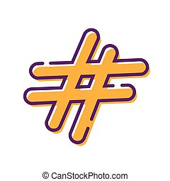 Hastag flat design icon