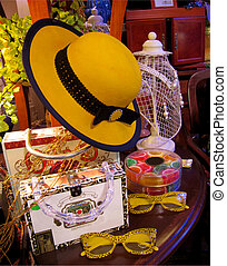 Yellow Hat Still Life - A still life composition of boutique...