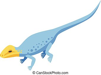 Yellow head lizard icon, isometric style