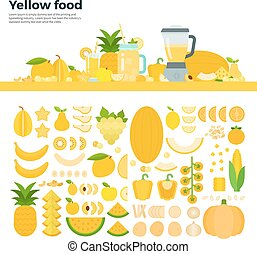Yellow healthy food on the table