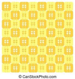 Yellow Hearts Pattern Vector