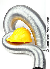 aluminium air tubes - yellow helmet and aluminium air tubes...