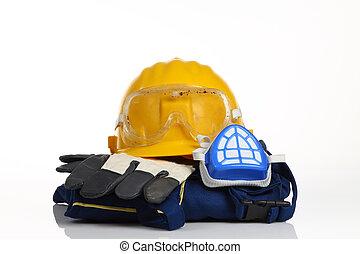 yellow helmet safety equipment
