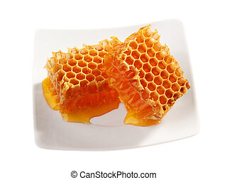 Yellow honeycomb wax