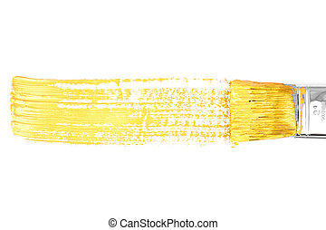 Yellow horizontal line of painting