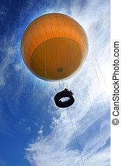Yellow hot air balloon