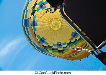 Yellow Hot Air Balloon Inside