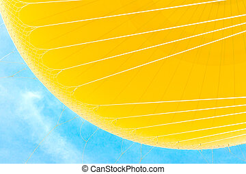 Yellow Hot Air Balloon on Blue Sky