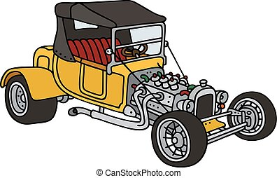 Yellow hot rod