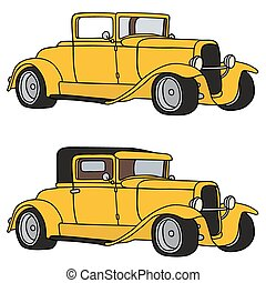 Yellow hot rods