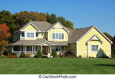 Yellow House - beautiful country home in a wooded setting ...