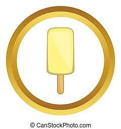Yellow ice cream  icon