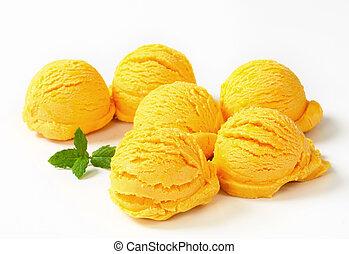 Yellow ice cream