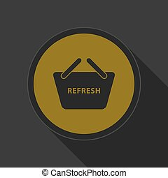 yellow icon-shoppin basket refresh