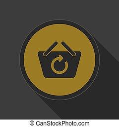 yellow icon shopping basket refresh