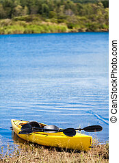 Yellow Kayak Ready to be Used