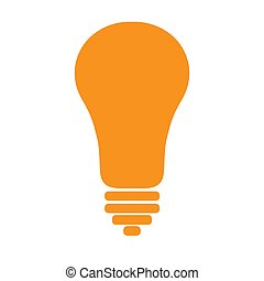 Yellow Lamp icon isolated on background. Modern flat pictogram, business, marketing, internet concept. Trendy Simple vector symbol for web site design or button to mobile app. Logo illustration.