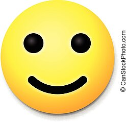 Yellow laughing happy smile, emoji smile symbol, vector ...