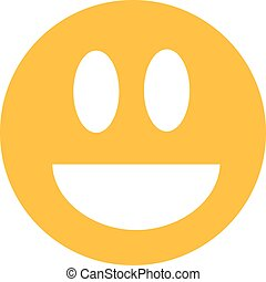 Yellow laughing smiley