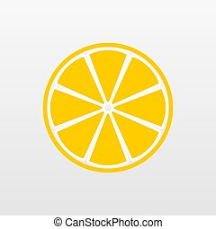 Yellow Lemon fruit icon isolated on background. Modern simple flat vegetarian sign. Food, internet concept. Trendy Simple vector symbol for website design, web button, mobile app. Logo illustration.