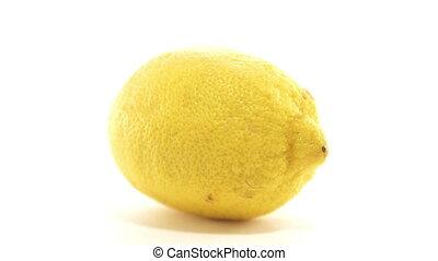 Yellow lemon refreshing citrus fruit vitamins for healthy diet