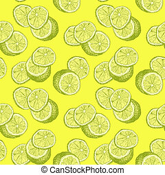 Yellow Lemons and Lemon Slices for Kids Room, Interiors or Fresh Summer Accessories and Clothing