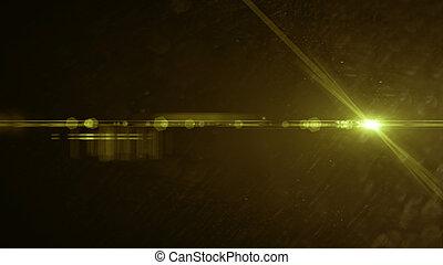 Yellow lens flare light