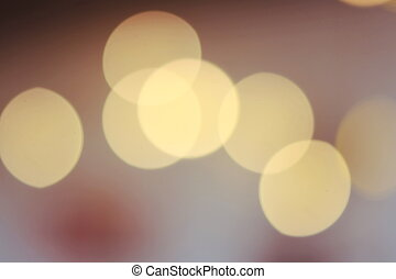 Yellow light, bokeh circle with blurred background