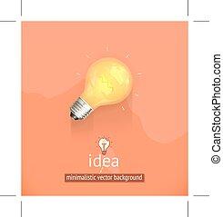 Yellow light bulb background