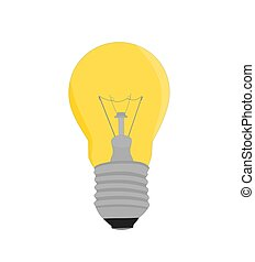 Yellow light bulb equipment icon