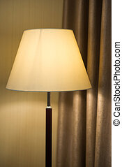 yellow light from the lamp