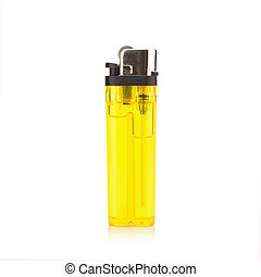 yellow lighter on white background
