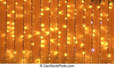 yellow lights background - golden lights background with...