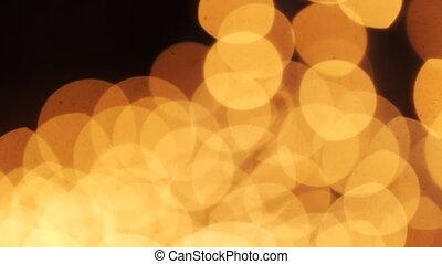 Yellow lights in boke effect