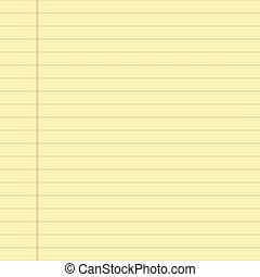 Yellow lined paper illustration