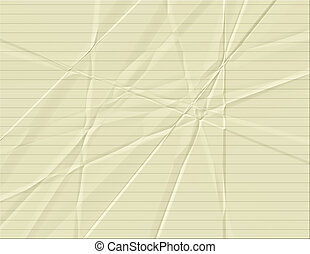 Yellow Lined Paper - Yellow lined paper with creases and...