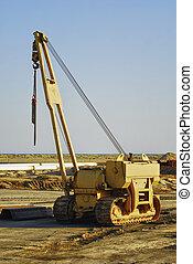 yellow loader excavator