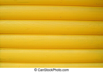 Yellow log wall abstract background