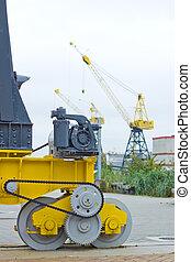 Yellow Marine Industrial Crane