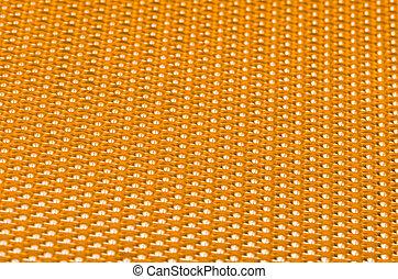 Yellow metal mesh plating