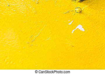 Yellow Metallic Surface