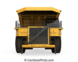 Yellow Mining Truck Isolated - Yellow Mining Truck isolated...