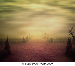 Yellow Misty Background