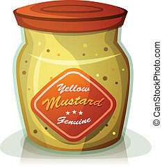 Yellow Mustard Pot
