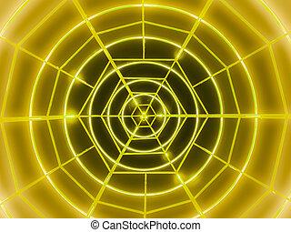 Yellow neon circles