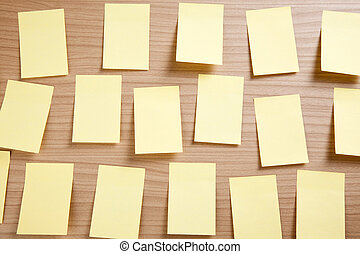 yellow note paper